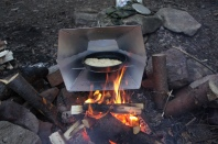 bannock in a reflector oven