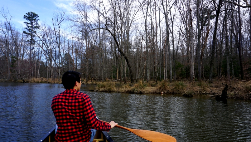 Maiden voyage out on Swift Creek Lake in Pocahontas State Park, VA.